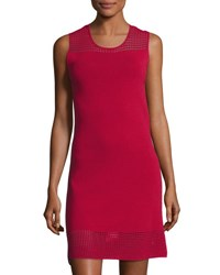 Max Studio Sleeveless Cutout Sweater Dress Dark Red