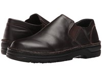 Naot Footwear Eiger French Roast Leather Men's Slip On Shoes Brown