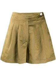 8Pm High Waisted Pleated Skort Green