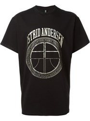 Astrid Andersen Logo Print Relaxed Fit T Shirt Black