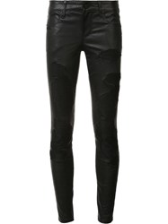 Rta Destroyed Effect Skinny Trousers Blue