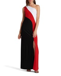 5Twelve One Shoulder Color Block Max Red Pattern
