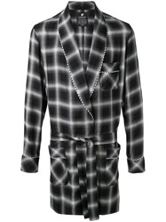 Loveless Checked Lounge Coat Black
