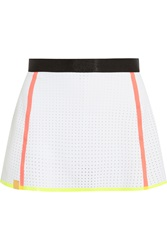 Monreal London Perforated Stretch Neoprene Tennis Skirt