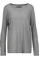 Enza Costa Stretch Jersey Top Gray