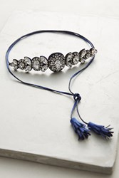 Anthropologie Countess Choker Necklace Navy