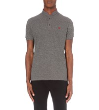 The Kooples Slim Fit Cotton Pique Polo Shirt Black Burgundy