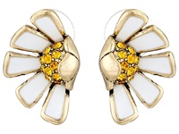 Betsey Johnson Flower Child Half Daisy Stud Earrings White Multi Earring