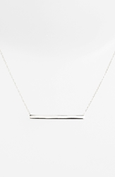 Argentovivo Boxed Bar Pendant Necklace Silver