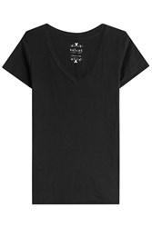 Velvet Cotton T Shirt Black