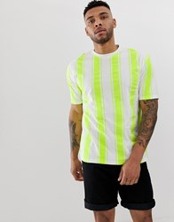 Another Influence Over Size Fit Stripe Shirt Green