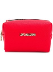 Love Moschino Saffiano Pouch Red