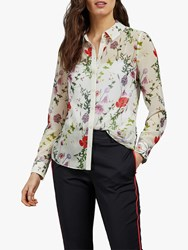 Ted Baker Shivany Floral Blouse Ivory