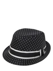 Dolce And Gabbana Polka Dots Printed Cotton Twill Hat
