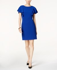 Jessica Howard Flutter Sleeve Sheath Dress Regular And Petite Sizes Royal