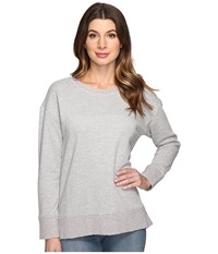 Joe's Jeans Leira Hi Low Sweatshirt Heather Grey Women's Sweatshirt Gray
