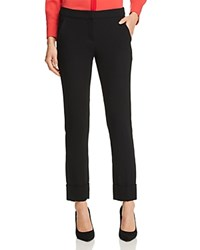 Emporio Armani Cuffed Cropped Pants Black