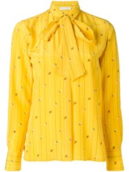 Societe Anonyme Ribbon Shirt Women Silk 44 Yellow Orange