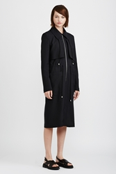 Suno Long Windbreaker Black