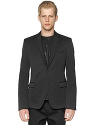Calvin Klein Collection Pleated Lapel Bonded Cotton Jacket