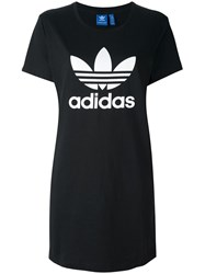 Adidas Originals 'Trefoil' T Shirt Dress Black