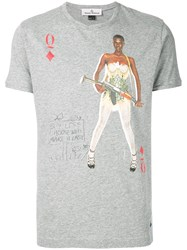 Vivienne Westwood Queen Of Diamonds T Shirt Grey