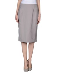 Blue Les Copains Skirts 3 4 Length Skirts Women Grey