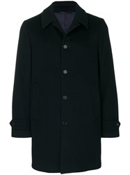 Aspesi Single Breasted Coat Viscose Wool L Blue