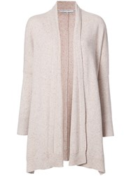 Rosetta Getty Waterfall Cardigan Women Cashmere M Nude Neutrals