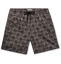 Saturdays Surf Nyc Timothy Mid Length Printed Swim Shorts Black