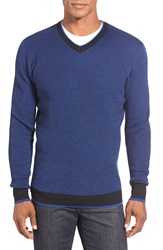 Bugatchi V Neck Sweater Night Blue