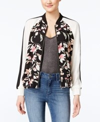Amy Byer Bcx Juniors' Printed Colorblocked Bomber Jacket Pink