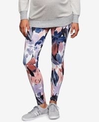 A Pea In The Pod Maternity Stretch Leggings Floral Print