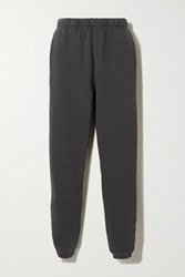 Les Tien Cotton Jersey Track Pants Black