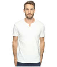 Lucky Brand Button Notch Tee Marshmallow Men's T Shirt Blue