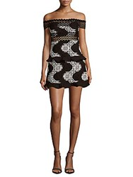 Romeo And Juliet Couture Ruffle Woven Off The Shoulder Dress Black