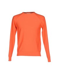 M.V. Maglieria Veneta Knitwear Jumpers Men Orange