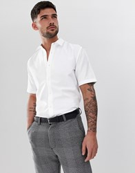 Only And Sons Short Sleeve Oxford Shirt White