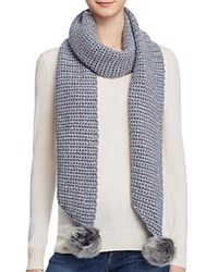 Ugg Scarf With Pom Poms 100 Bloomingdale's Exclusive Steel Heather