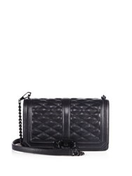 Rebecca Minkoff Love Quilted Leather Crossbody Bag Black