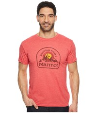 Marmot Short Sleeve Altitude Tee Red Heather T Shirt Pink