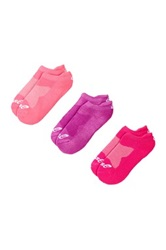 Asics Cushion Low Socks Pack Of 3 Pink