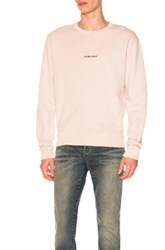 Saint Laurent Crewneck Sweatshirt In Pink