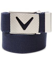 Callaway Cut To Fit Solid Webbed Golf Belt Peacoat