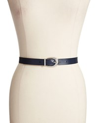 Lauren Ralph Lauren Leather Belt Navy