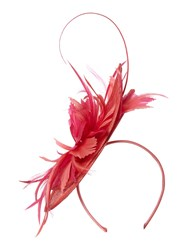Linea Lexi Tropical Feather Fascinator Coral