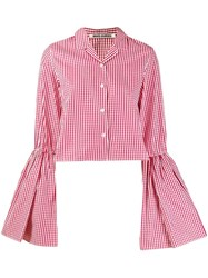 Jourden Flared Sleeve Gingham Shirt