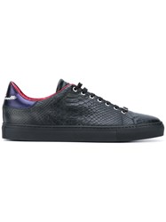 Roberto Cavalli Snakeskin Effect Sneakers Men Calf Leather Leather Rubber 43 Black