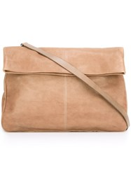 Ally Capellino Large 'Pomme' Shoulder Bag Nude And Neutrals