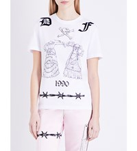 Dilara Findikoglu Tattoo Script Cotton Jersey T Shirt White